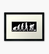 Curling Evolution Framed Print