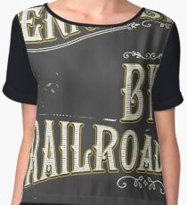 Tennessee USA vintage Railroad poster Women's Chiffon Top