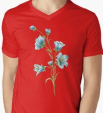 spring blue flowers. watercolor Mens V-Neck T-Shirt