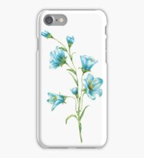 spring blue flowers. watercolor iPhone Case/Skin