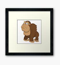 Grumpy cartoon Gorilla Framed Print
