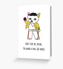Freddie Meow ball of wool Greeting Card