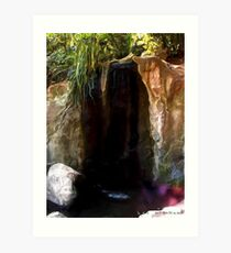 Flowing Fountain  Art Print