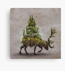 Forest Deer Canvas Print