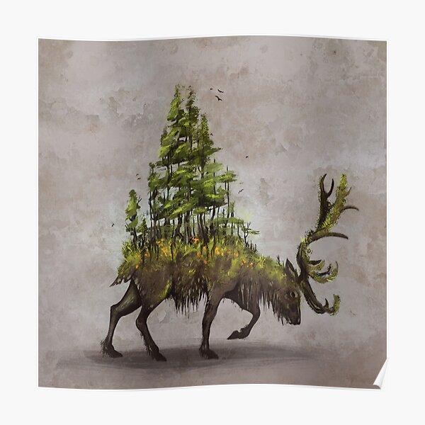 Forest Deer Poster