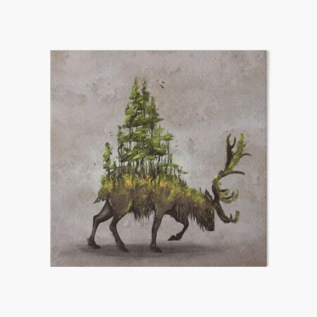 Forest Deer Art Board Print