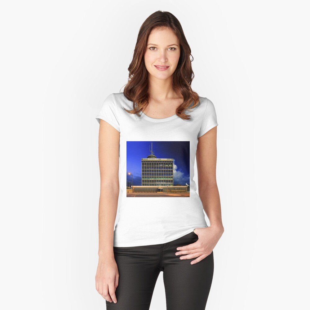 Fremantle Port Authority Building  Women's Fitted Scoop T-Shirt Front