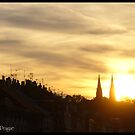 Vysehrad in sunset by Chenn