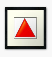 RED, TRIANGLE Framed Print