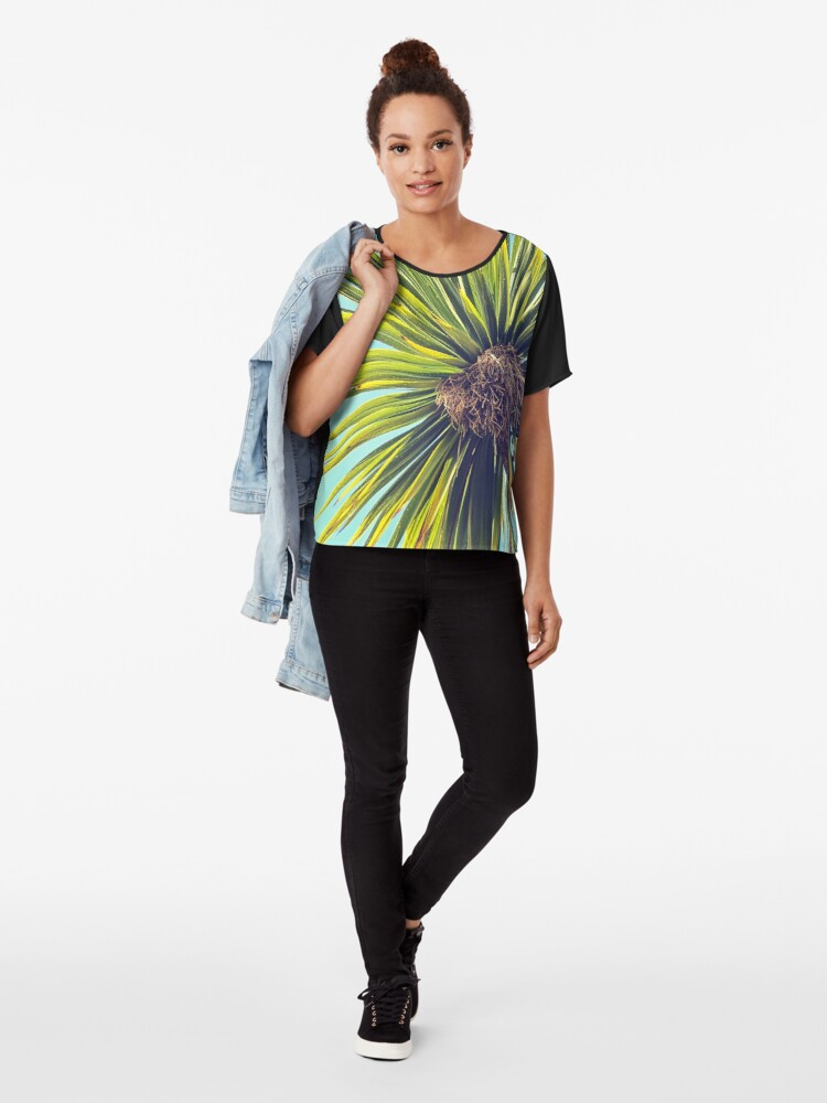 Alternate view of Tropical Shade Chiffon Top