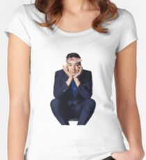 Jimmy with a Flower Crown pt. 2 Women's Fitted Scoop T-Shirt