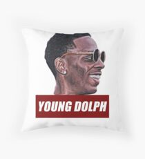 Young dolph Throw Pillow