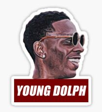 Young dolph Sticker