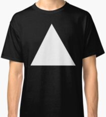 TRIANGLE, White, on Black, Pure and simple Classic T-Shirt