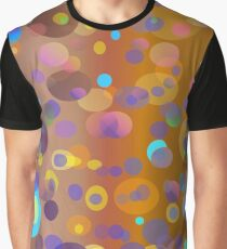 Digital dots, brown and neutral colors for fashion and decor Graphic T-Shirt