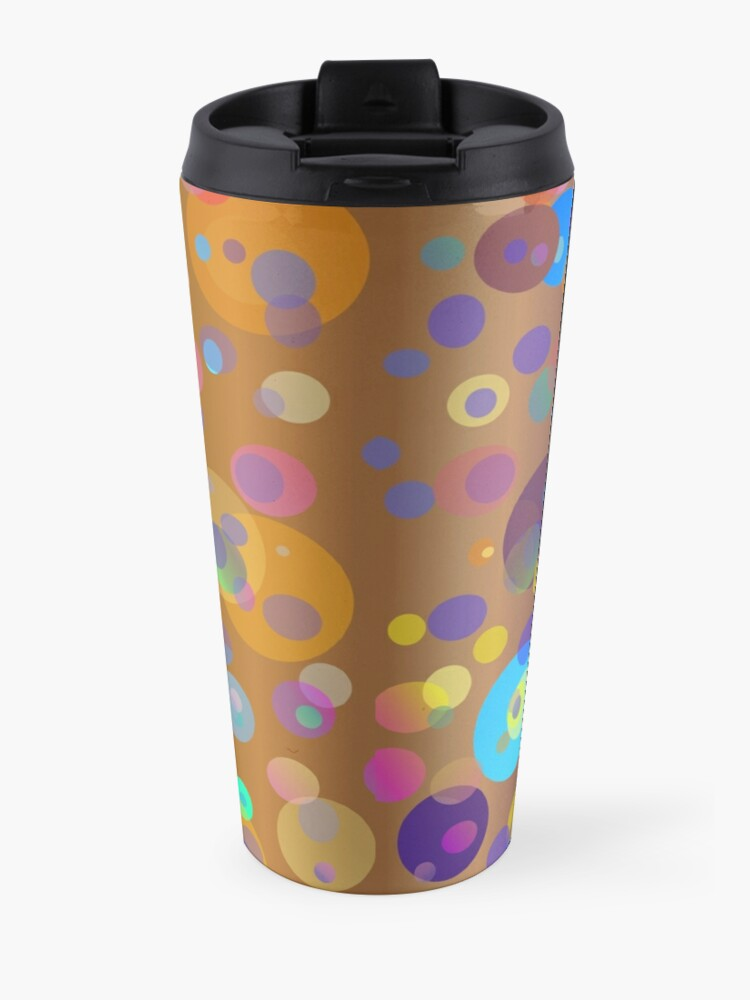Alternate view of Digital dots, brown and neutral colors for fashion and decor Travel Mug
