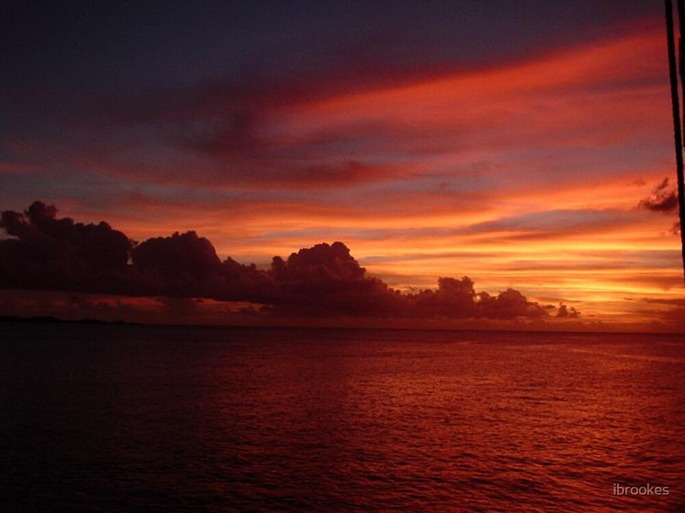 Caribbean sunset by ibrookes