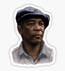 Morgan Freeman (colour) Sticker