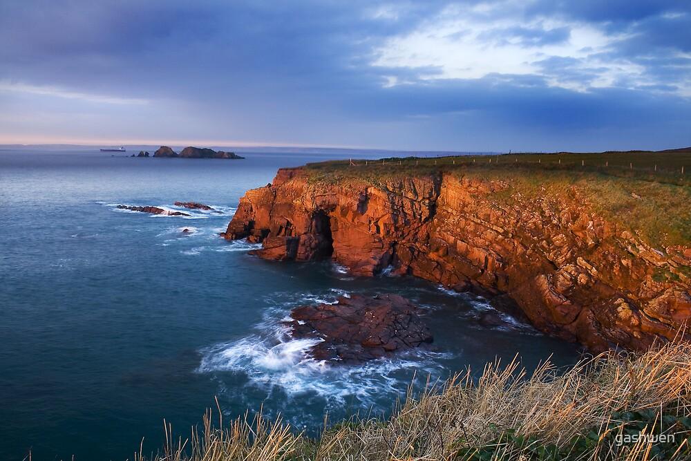 cliffs of st brides bay by gashwen