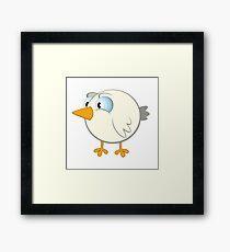 Funny cartoon bird Framed Print