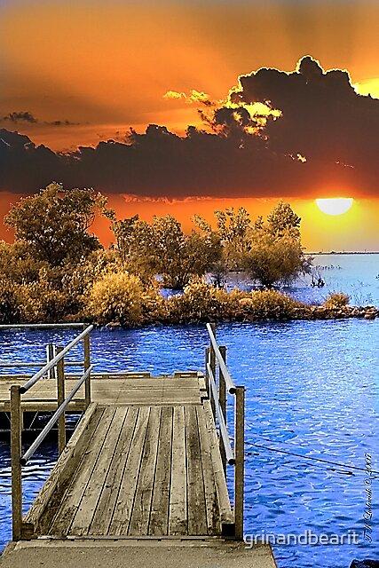 Dock Sunset by grinandbearit