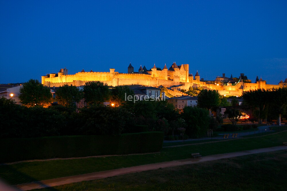 Carcassonne at night by lepreskil