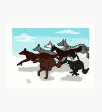 ACW Running Wolf Pack Art Print