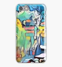 Abstract colorful graffiti pond iPhone Case/Skin