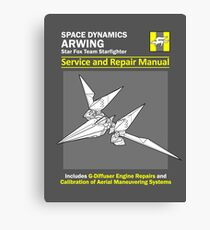 Arwing Service and Repair Manual Canvas Print