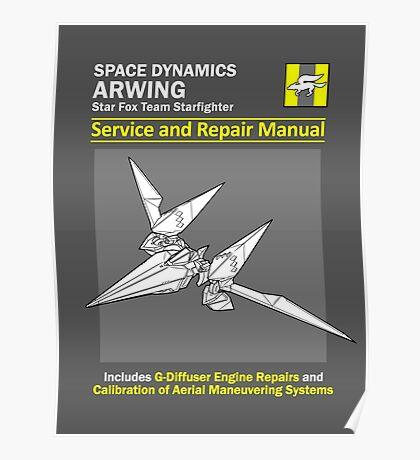 Arwing Service and Repair Manual Poster