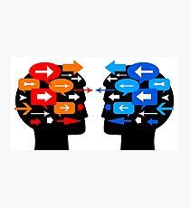 people communication feedback Photographic Print
