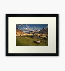 Hartsop valley Lake district Cumbria Framed Print
