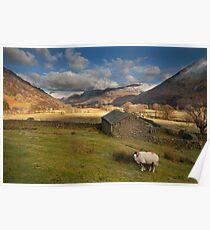 Hartsop valley Lake district Cumbria Poster