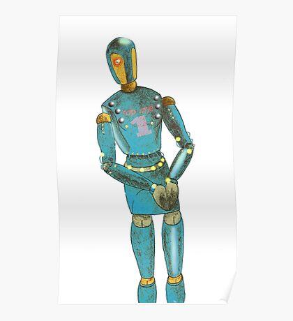 Pencil robot Poster