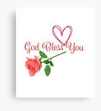 GOD BLESS YOU Canvas Print