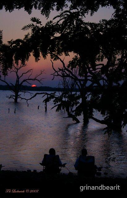 Sunset Fishing by grinandbearit