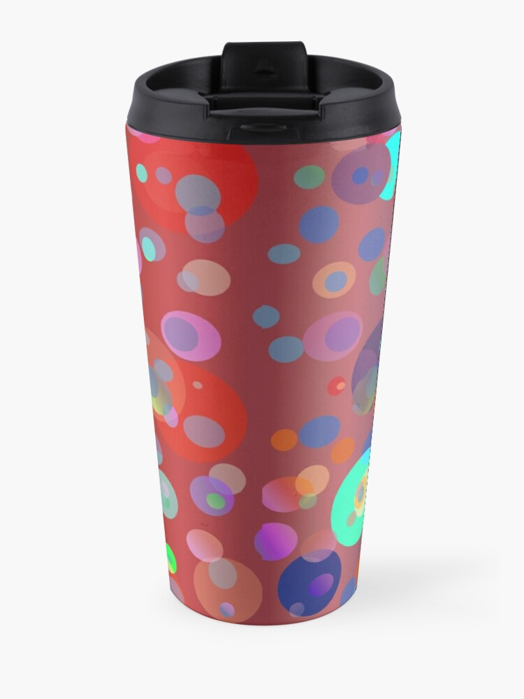 Alternate view of Red Dizzy Dots - seamless pattern for fashion and home decor Travel Mug