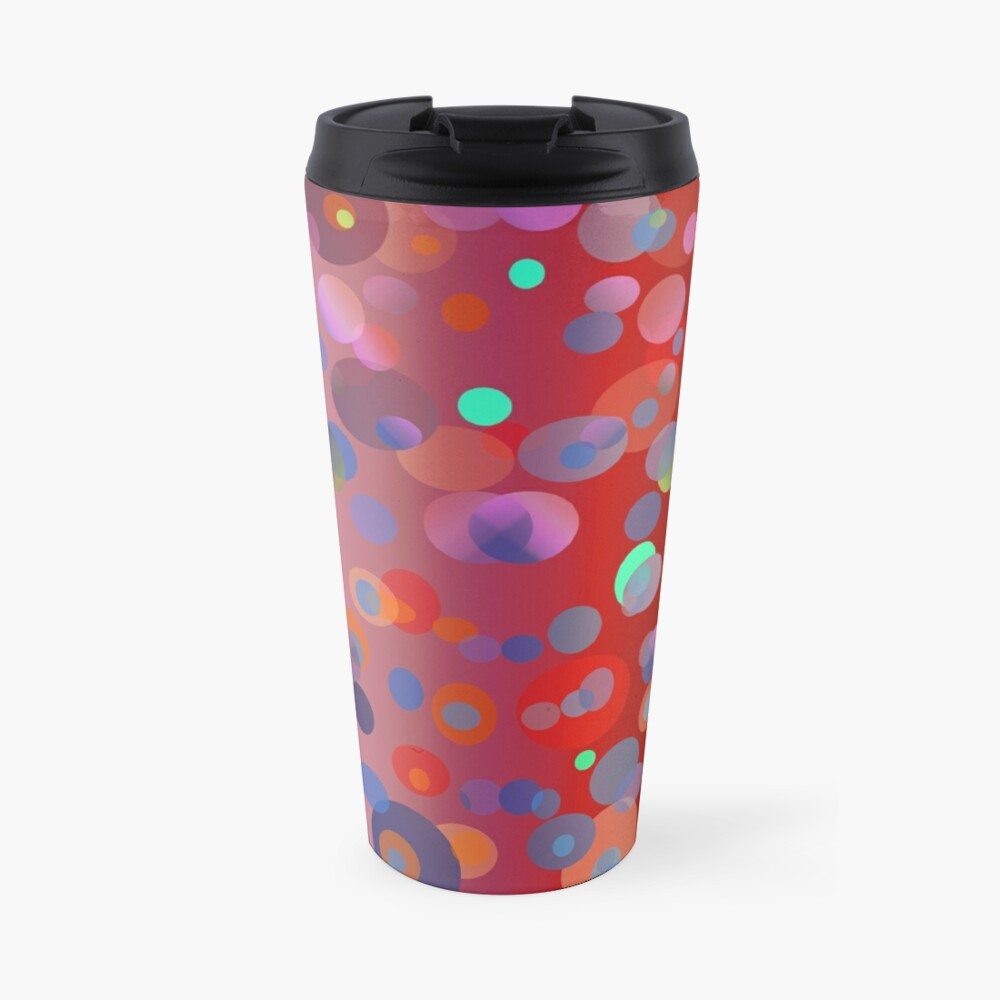 Red Dizzy Dots - seamless pattern for fashion and home decor Travel Mug
