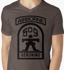509th Infantry stencil Men's V-Neck T-Shirt