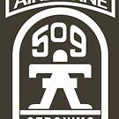 509th Infantry stencil white by jcmeyer