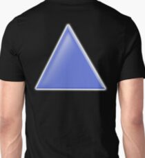 TRIANGLE, BLUE, on Black T-Shirt