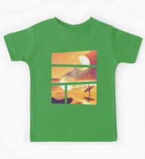 Dreaming of Sunset Surfing Kids Clothes