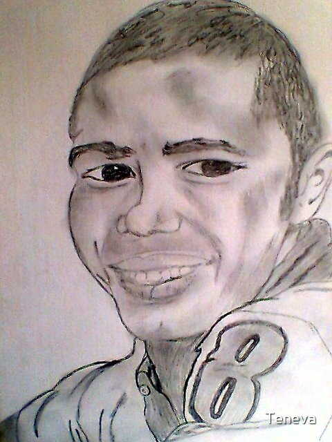 Springbok rugby player Brian Habana by Teneva