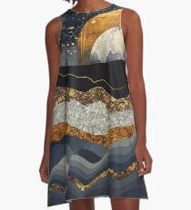 Metallic Mountains A-Line Dress