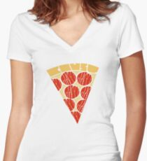 Pepperoni Fitted V-Neck T-Shirt