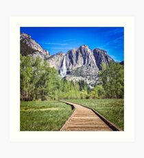 Upper Yosemite Falls and Yosemite Point Art Print