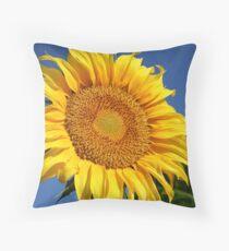 Big Sunflower Throw Pillow