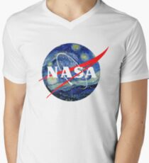 Camiseta para hombre de cuello en v NASA