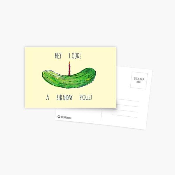 Birthday Pickle Postcard