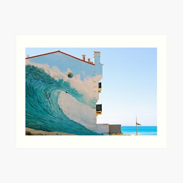 La ola trompe l'oeil - Hossegor Lámina artística